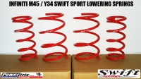 2003-2004 INFINITI M45 SWIFT LOWERING SPRINGS (Y34)